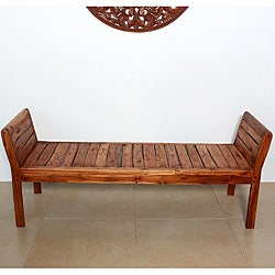 Teak Inlay Recliner Bench (Thailand)