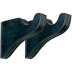 Menagerie Bella Noir Ribbed Curtain Bracket (Set of 2)