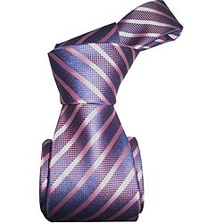 Dmitry Men's Light Purple Striped Italian Silk Tie