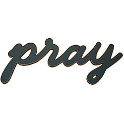 'Pray' Wood Word for the Wall