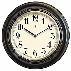 Benchmark 11.5-inch Black Wood Wall Clock
