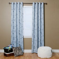Animal Print 84-inch Grommet Curtain Panel