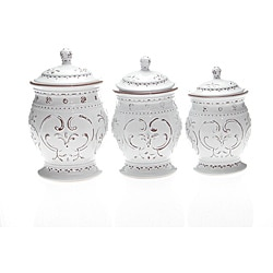 Certified International Romanesque 3-piece Canister Set