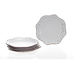 Certified International 'Romanesque' 10.75-inch Dinner Plates (Set of 4)