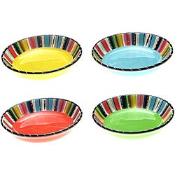 Certified International Santa Fe 9.25-inch Pasta/ Soup Bowls (Set of 4)