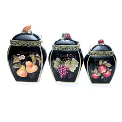 Certified International 'Parisian Fruit' 3-piece Canister Set