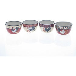 Certified International La Provence Rooster Ice Cream Bowl (Set of 4)