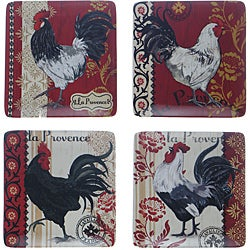 Certified International La Provence Rooster Dinner Plates (Set of 4)