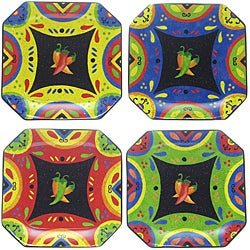 Certified International Hot and Saucy Dinner Plates (Set of 4)