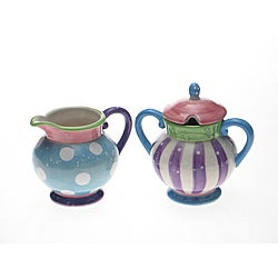 Certified International Cupcake Sugar & Creamer Set