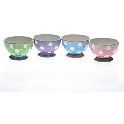 Certified International Cupcake Pedestal Ice Cream Bowls (Set of 4)