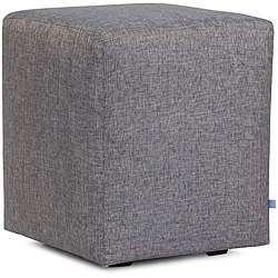 Shimmery Blue Slip Covered Cube Seat