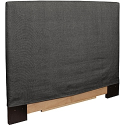 Full/ Queen-size Grey Slip Covered Headboard