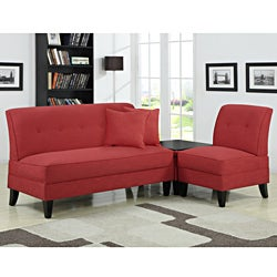 Portfolio Engle Sunset Red Linen 3-piece Sofa Set