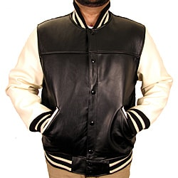 Hudson Outerwear Men's Big and Tall Leather Varsity Jacket