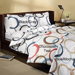Infinity 3-piece Full/Queen-size Duvet Set