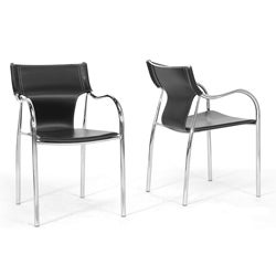 Harris 2-piece Black Modern Dining Chair Set