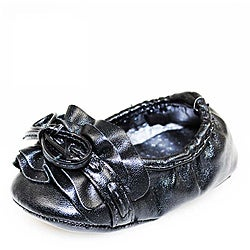 Baby Girl Black Glam Fashion Crib Shoes