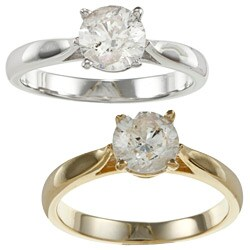 14k Gold 1ct TDW Diamond Solitaire Engagement Ring