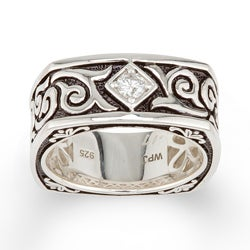 Sterling Silver Men's 1/5ct TDW Round Diamond Ring (H-I, I1-I2)