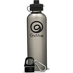 AffirmWater 26-oz 'I am Gratitude' Stainless Steel Water Bottle
