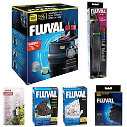 Fluval 106 Canister Filter & E 300 Heater Extra Biomax Biofoam Carbon - Includes Reconditioned Item