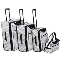 Pierre Cardin Signature Collection Grey 4-piece Luggage Set