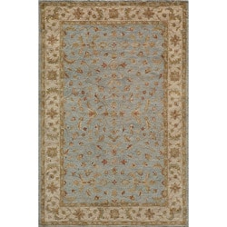 Hand-tufted Goa Blue Wool Rug (5' x 7'9)