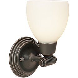 Greko Oil Rubbed Bronze Finish Opal Glass 1-light Wall Sconce