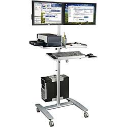 Balt Beta Sit Stand Dual Monitor Workstation