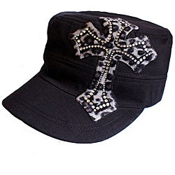 Katwalk Divaz Women's Black Animal Print Cap