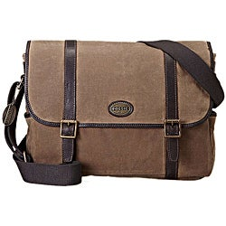 Fossil Men's 'Estate' Canvas/ Leather Messenger Bag