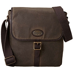 Fossil Men's 'Estate' Canvas/ Leather City Bag