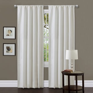 Lush Decor Ivory 84-inch Ian Curtain Panels (Set of 2)