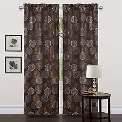 Lush Decor Brown 84-inch Bijou Curtain Panels (Set of 2)