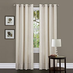 Lush Decor Beige 84-inch Classique Curtain Panels (Set of 2)