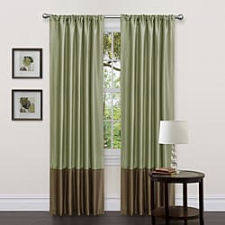 Lush Decor Green/ Brown 84-inch Dawn Curtain Panels (Set of 2)