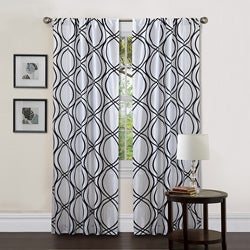 Lush Decor White/ Black 84-inch Dimension Curtain Panel