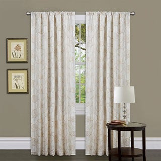 Lush Decor Beige 84-inch Circle Charm Curtain Panel