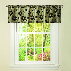 Lush Decor Green/ Brown Garden Blossom Valance