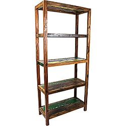 Ecologica Furniture Five-Shelf Bookcase Storage Unit