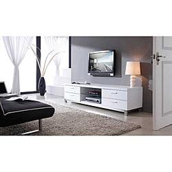 Natasha White/ Stainless Steel Modern TV Stand