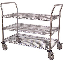 Luxor Three-shelf Wire Transport Cart