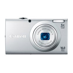 Canon PowerShot A2400IS 16MP Silver Digital Camera