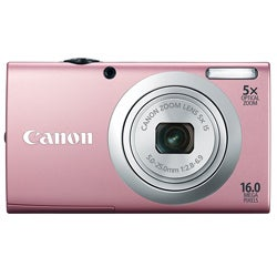 Canon PowerShot A2400IS 16MP Pink Digital Camera