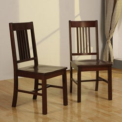 Cappuccino Wood Dining Chairs (Set of 2)