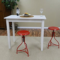 Red Adjustable Pavina Barstool