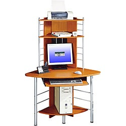 Deluxe Corner Tower Computer Workstation Desk