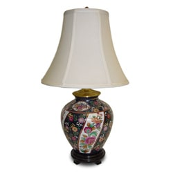 Limogesque Ginger Jar Porcelain Table Lamp