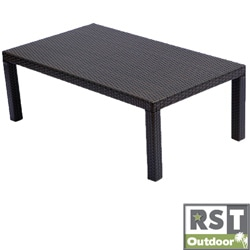 RST Outdoor Espresso Rattan Patio Coffee Table